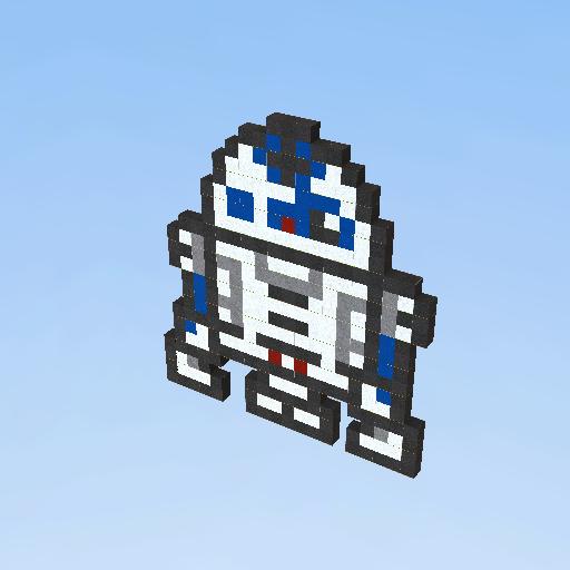r2d2 pixel art - KoGaMa - Social Builder