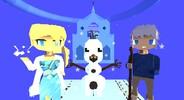 Kogama: Corrida no gelo ❄Com Elsa,Jack e Olaf❄