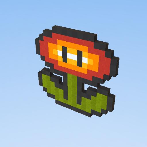Pixel Art Flor De Fogo Mario Cp838 Kogama Play Create
